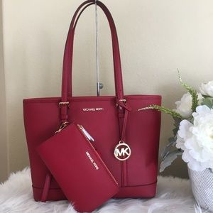 Michael Kors small shoulder tote wallet bundle